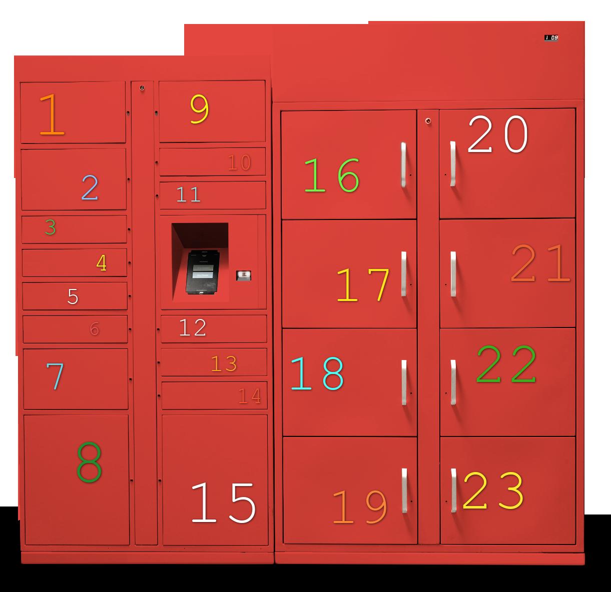 red lockers