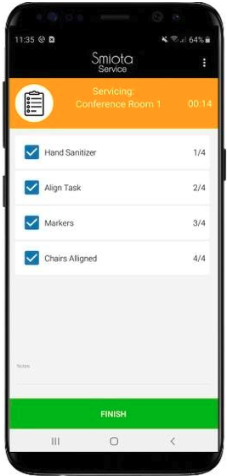 Smiota Service Mobile Task List